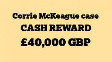 Corrie McKeague reward