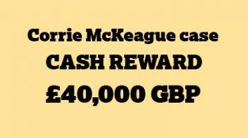 Corrie McKeague reward