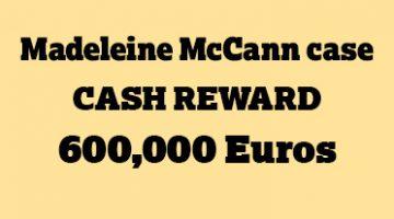 Madeleine McCann reward